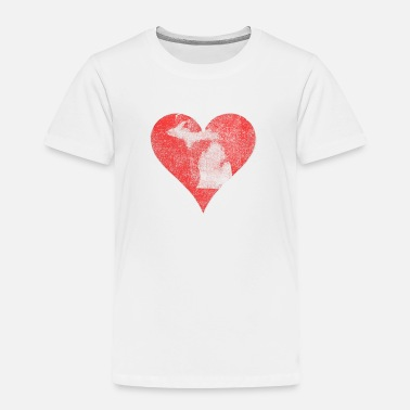 Michigan Heart Classic Michigan Vintage Distressed Heart - Toddler Premium T-Shirt