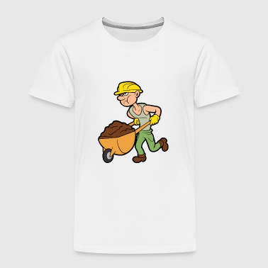 Construction Worker Builder Building Laborer - Toddler Premium T-Shirt