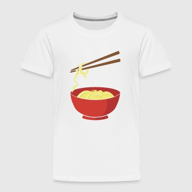 Noodles - funny - Chinese Food - Chopsticks- China - Toddler Premium T-Shirt