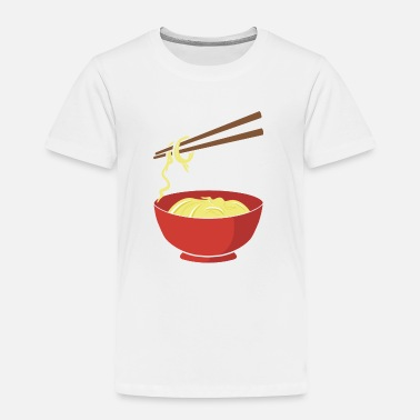 Food Noodles - funny - Chinese Food - Chopsticks- China - Toddler Premium T-Shirt