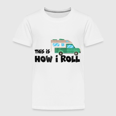 Sun Rise Camping trailer Motorhome tenting vacation gift - Toddler Premium T-Shirt