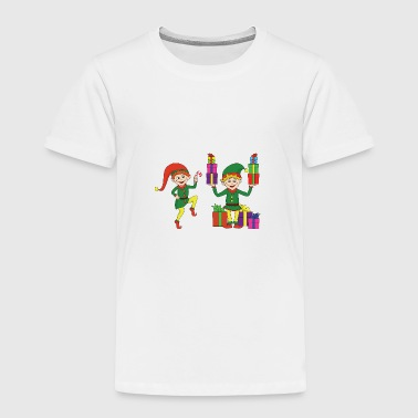 Suit Funny Cool Cute Christmas Elf Elves Xmas Gifts - Toddler Premium T-Shirt