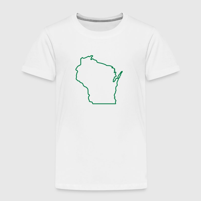 Wisconsin State Outline Design - Toddler Premium T-Shirt