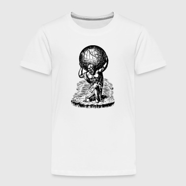 Atlas lifts the World Greek Mythology - Toddler Premium T-Shirt