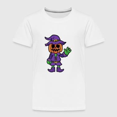 Halloween Monster Zombie Scary Horror Pumpkin - Toddler Premium T-Shirt