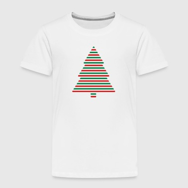 Xmas Tree Stripes - Toddler Premium T-Shirt