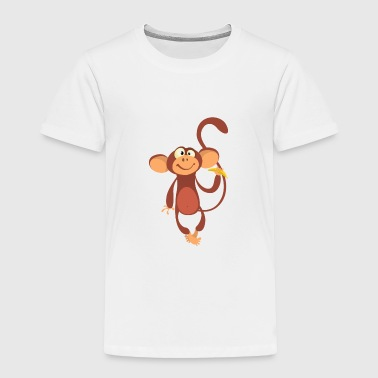 Monkey Cartoon monkey-animal-cartoon - Toddler Premium T-Shirt
