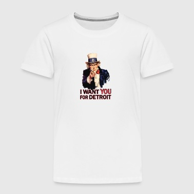 Want You For Detroit USA Uncle Sam - Toddler Premium T-Shirt
