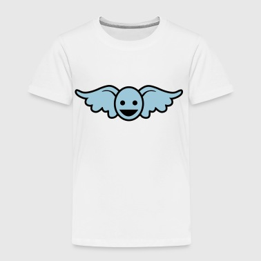 Funny blue angel smiley face - Toddler Premium T-Shirt