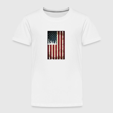 Chicago USA Skyline Flag Distresed - Toddler Premium T-Shirt