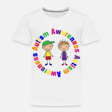 Autism Awareness Autism Awareness Stick Figure Kids - Toddler Premium T-Shirt