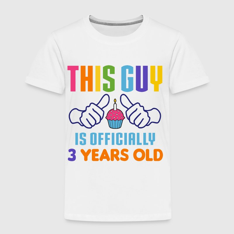 Officially 3 Years Old - Toddler Premium T-Shirt
