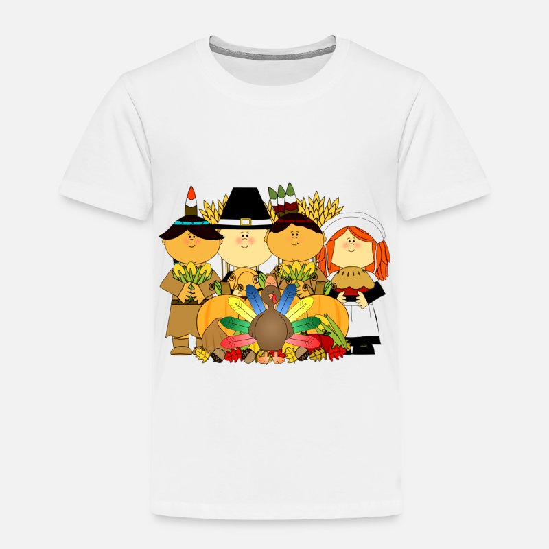 857d1c6f9 Thanksgiving Baby Clothing - Thanksgiving Kids - Toddler Premium T-Shirt  white