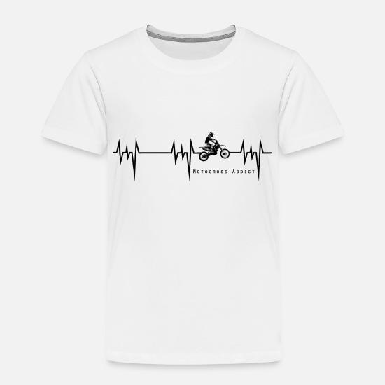 892ba5f8 Toddler Baby Clothing - heartbeat motocross addict - Toddler Premium T-Shirt  white
