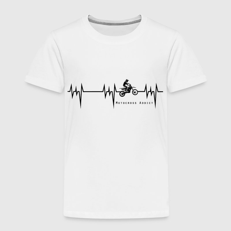heartbeat motocross addict - Toddler Premium T-Shirt