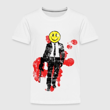 Smiley Hitman (Distressed) - Toddler Premium T-Shirt