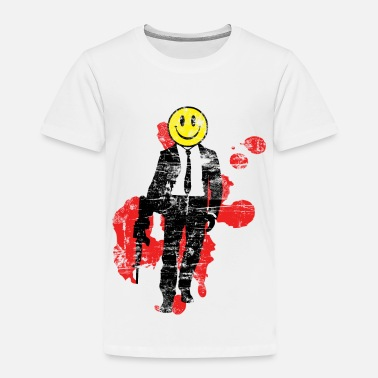 Rave Smiley Hitman (Distressed) - Toddler Premium T-Shirt