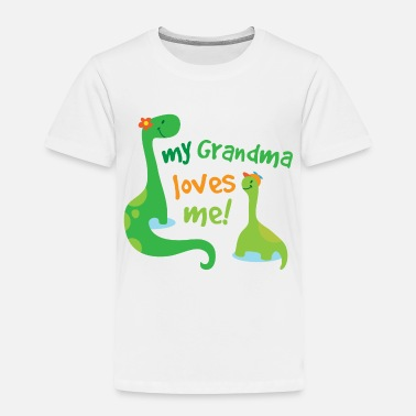 My Grandma Loves Me My Grandma Loves Me Dinosaur - Toddler Premium T-Shirt