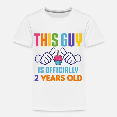 2 Year Old Birthday Officially 2 Years Old - Toddler Premium T-Shirt