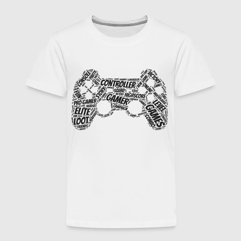 game controller wordart - Toddler Premium T-Shirt