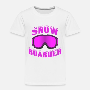 Winter snowboarding snow goggles boarder sport - Toddler Premium T-Shirt