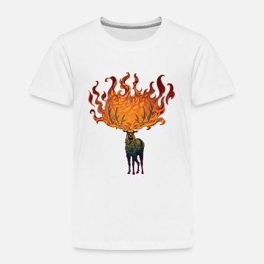 Moss Flaming Stag (Moss) - Toddler Premium T-Shirt