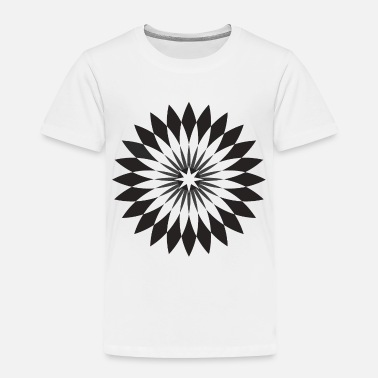 Stylish Black and White Star Rosette Design - 1 - Toddler Premium T-Shirt