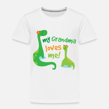 Grandma My Grandma Loves Me Dinosaur - Toddler Premium T-Shirt