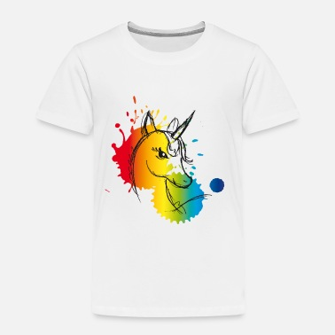 Color unicorn splash rainbow colors drawing cute - Toddler Premium T-Shirt