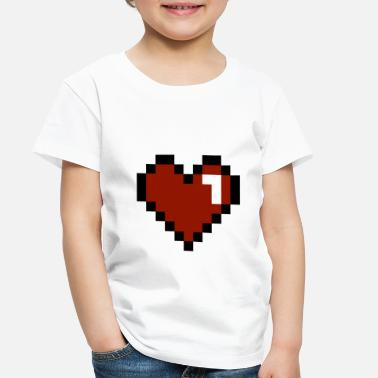 Fun Heart Pixelated - Toddler Premium T-Shirt