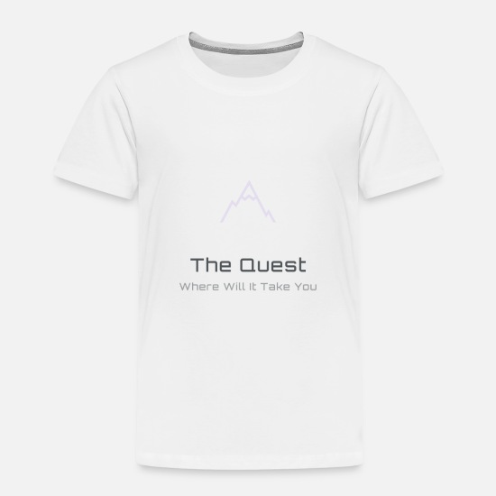 Mountains Baby Clothing - The Quest Logo Transparent - Toddler Premium T-Shirt white