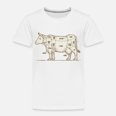 Beef cuts of beef diagram - Toddler Premium T-Shirt