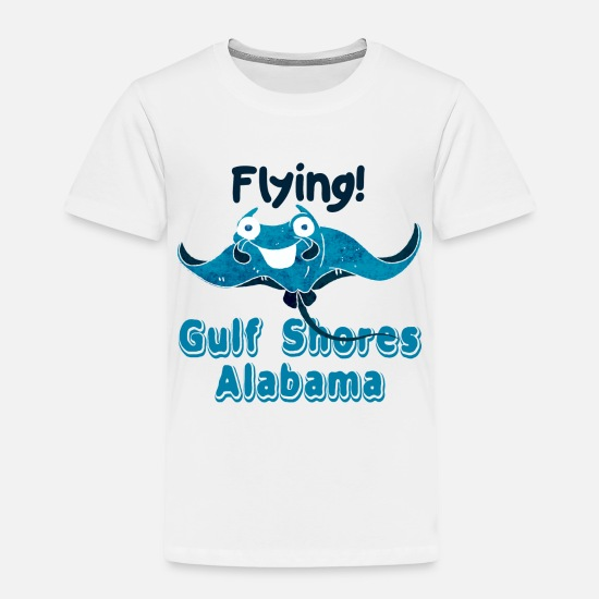 Humor Baby Clothing - Funny Manta Ray - Flying Gulf Shores Alabama - Toddler Premium T-Shirt white