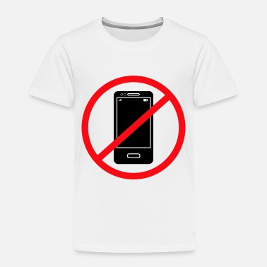 Mobile Phone Vector no mobile phones sign - Toddler Premium T-Shirt