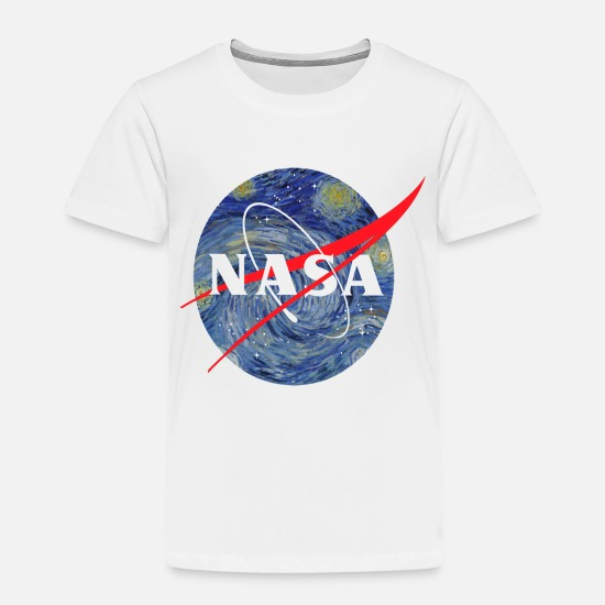 15b8bdd8 Nasa Baby Clothing - NASA starry night - Toddler Premium T-Shirt white