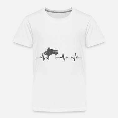 Piano Heartbeats Piano Lover Musician Design - Toddler Premium T-Shirt
