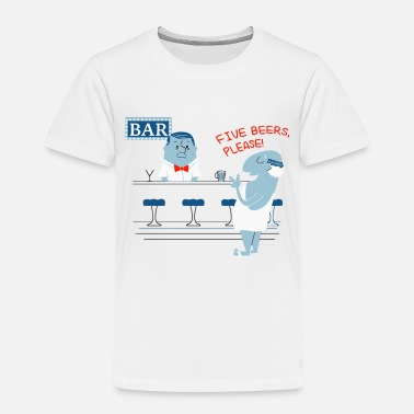 Roman Cross A Roman Walks Into a Bar - Toddler Premium T-Shirt
