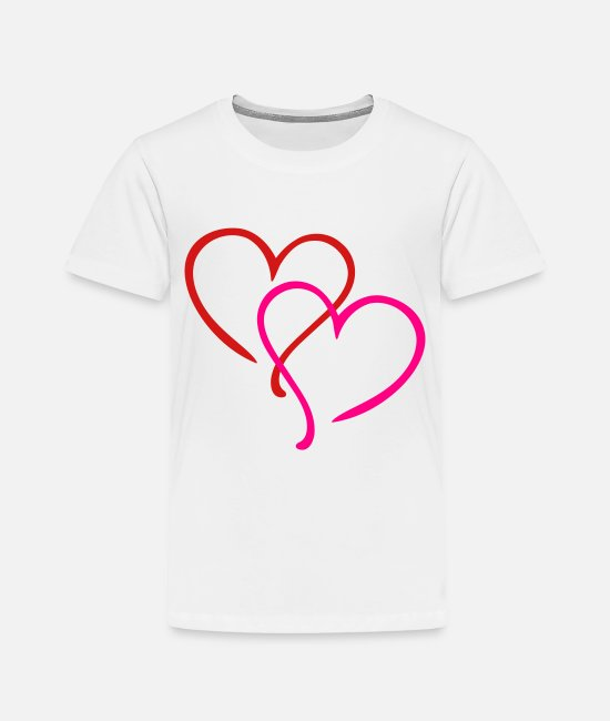Sweetheart T-Shirts - Hearts - Toddler Premium T-Shirt white