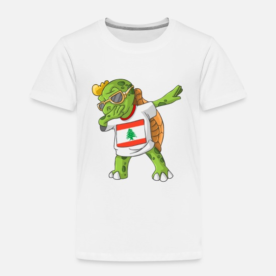 Lebanon Baby Clothing - Lebanon Dabbing Turtle - Toddler Premium T-Shirt white