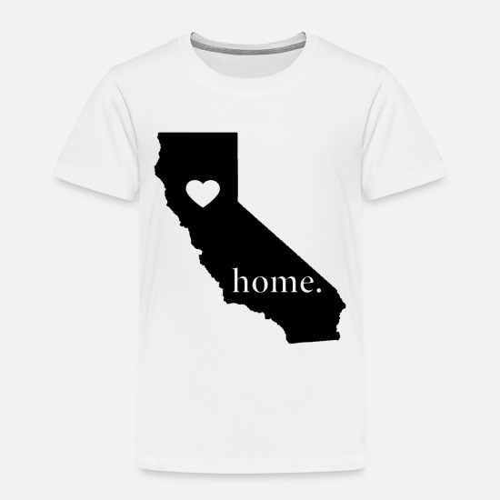 Mom Baby Clothing - California State Pride Gift- Love Home- Cool/Proud - Toddler Premium T-Shirt white