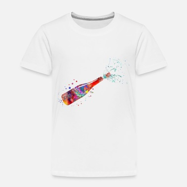 Champagne Bottles Champagne bottle, watercolor champagne - Toddler Premium T-Shirt