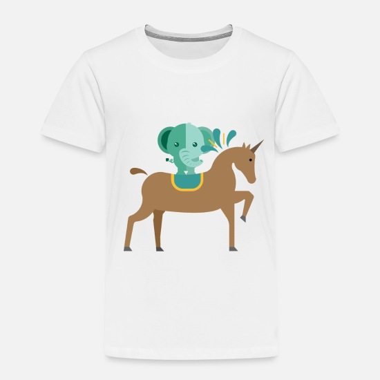 Kids Designs Baby Clothing - Unicorn and elephant - Toddler Premium T-Shirt white