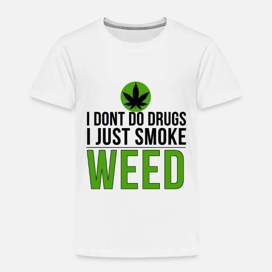 Amsterdam Baby Clothing - drugs weed cannabis Mary Jane stoner 420 T-shirt - Toddler Premium T-Shirt white