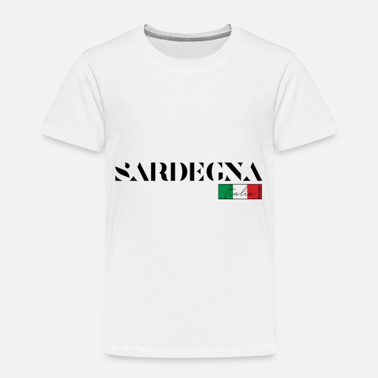 Venice Beach Baby Clothing - SARDEGNA SARDINIA ITALY HOLIDAY ISLAND (b) - Toddler Premium T-Shirt white