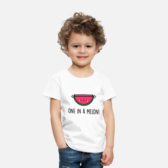 One Night Stand Baby Clothing - You re One in a Melon - Toddler Premium T-Shirt white