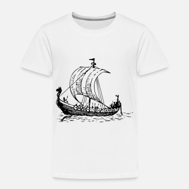 Ship vikings wickinger warrior vikingboat boot10 - Toddler Premium T-Shirt