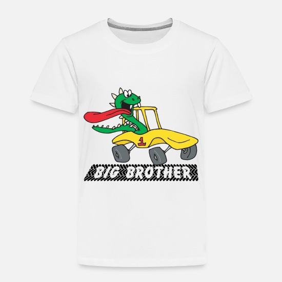 Big Bro Baby Clothing - Big Brother - Toddler Premium T-Shirt white