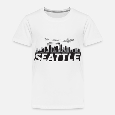 I Love Seattle Seattle Washington Skyline - Toddler Premium T-Shirt