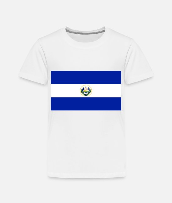El Salvador T-Shirts - El Salvador country flag love my land patriot - Toddler Premium T-Shirt white