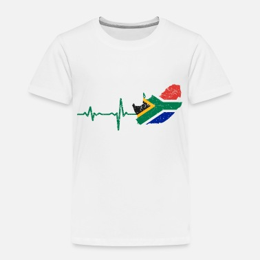 South Africa Heartbeat South Africa gift - Toddler Premium T-Shirt